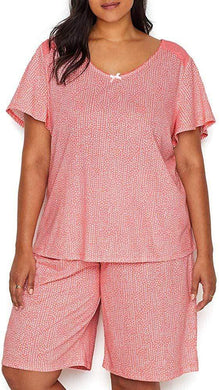 KAREN NEUBURGER Ditzy Conch Shell Knit Bermuda Pajama Set, US 1X, NWOT - racks-op