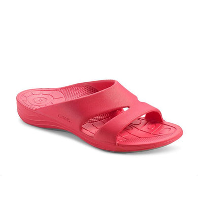 Aetrex WATERMELON Bali Lynco Slides, US 9, EU 39.5