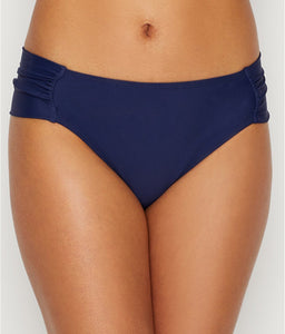 Panache NAVY Anya Gathered Side Brief Swim Bottom, US Large - racks-op