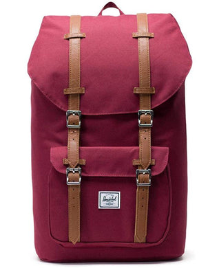 Herschel Windsor Wine/Tan Little America Backpack , One Size