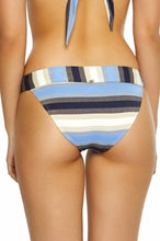 Load image into Gallery viewer, PilyQ CANCUN Stripe Thick Banded Bikini Swim Bottom, US Medium