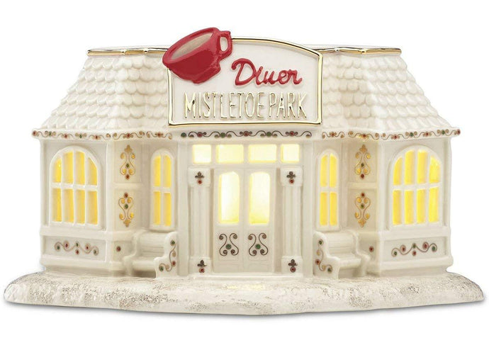 Lenox Mistletoe Park Diner Village Traditions Collection