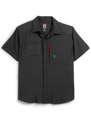 Topo Designs BLACK Tech Short Sleeve Shirt, US X-Large