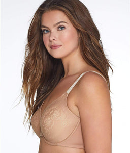 Vanity Fair HONEY BEIGE ORCHID Beauty Back Minimizer Bra, US 38D - racks-op