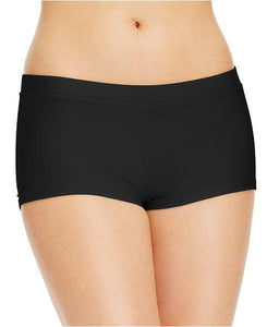Hula Honey Black Boyshorts Swim Bottom, Size XL - racks-op