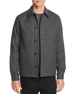 Paul Smith GRAY BLACK Micro-Houndstooth Shirt Jacket, US Large