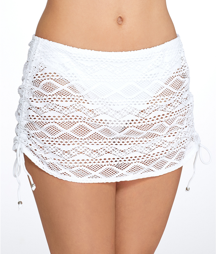 Freya WHITE Sundance Skirted Brief Swim Bottom, US Small - racks-op