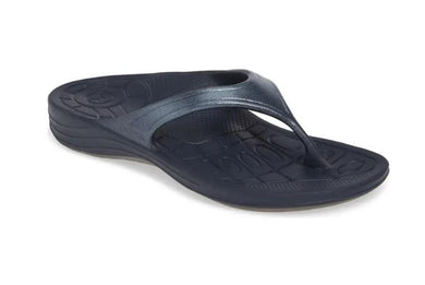 Aetrex Women's Navy Fiji Flips Orthotic Sandals, US 7, EU 37
