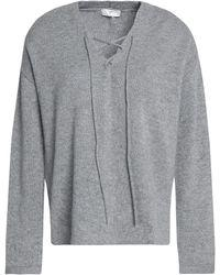 Joie HEATHER GREY Pullover Sweater, US Large