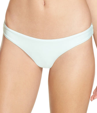 PilyQ MINT Azura Basic Ruched Teeny Cut Bikini Swim Bottom, US Medium