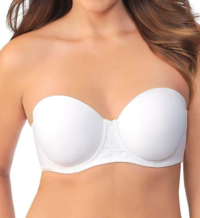Vanity Fair STAR WHITE Beauty Back Full Figure Strapless Bra, US 42DD - racks-op