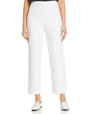 St. John WHITE Collection Compact Stretch Pants, US 10