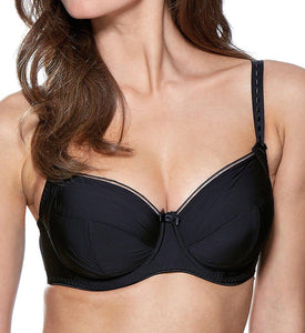 Charnos BLACK Superfit Everyday Underwire Full Cup Bra, US 30F - racks-op
