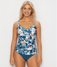 Load image into Gallery viewer, Azura PETROL South Pacific Underwire Tankini Swim Top, US 18