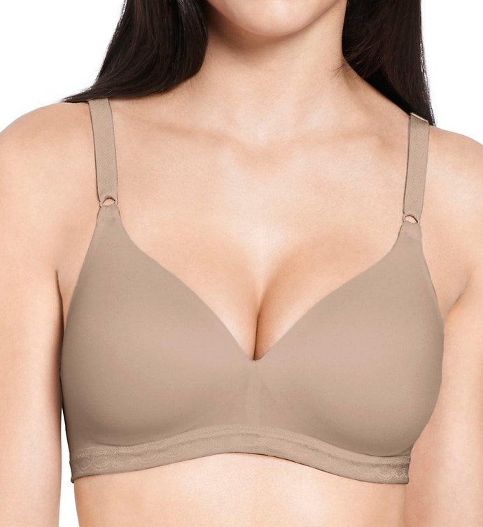 Warner's TOASTED ALMOND Cloud 9 Wire-Free T-Shirt Bra, US 36DD - racks-op