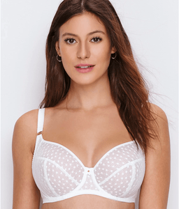 Freya WHITE Starlight Underwire Hero Balcony Side Support Bra, US 34I, UK 34G
