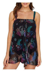 La Palma Cascade Convertible Underwire One-Piece, BLACK MULTI, 38D - racks-op