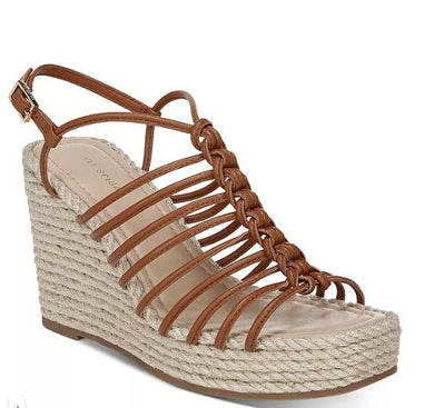 Via Spiga Women's Selma Strappy Espadrille Wedge Sandals, Caramel, US 8M, UK 6