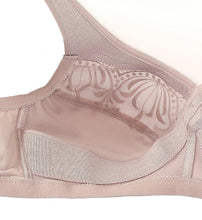 Load image into Gallery viewer, GLAMORISE Taupe Magic Lift Embroidered Full Figure Bra, US 42D, UK 42D, NWOT