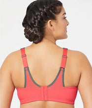 Load image into Gallery viewer, GLAMORISE Coral/Grey Elite Performance Sports Bra, US 34H, UK 32FF, NWOT
