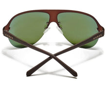 Load image into Gallery viewer, GUESS Brown/Blue Men's Rimless Shield Sunglasses