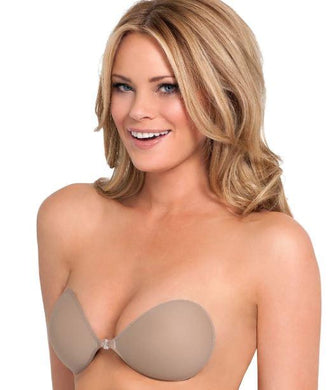 FASHION FORMS NUBRA ULTRALITE BACKLESS WIRE-FREE BRA, Nude, Size B - racks-op