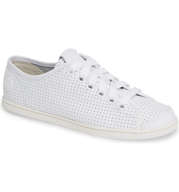 Camper WHITE Uno Perforated Sneaker, 5US, 35EU
