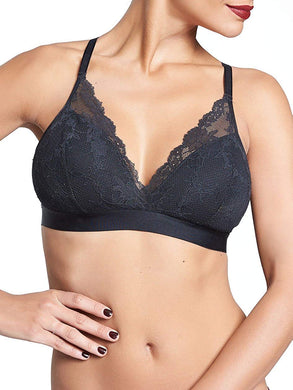 Chantelle BLACK Everyday Lace Racerback Wirefree Bra, US Small