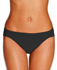 Hula Honey Junior's Black Malibu Side-Tab Hipster Bikini Bottom, Size L - racks-op