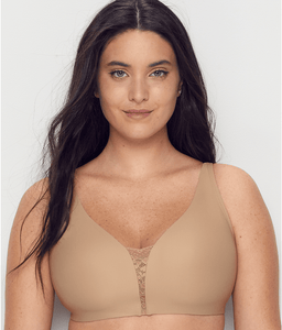 OLGA Toasted Almond Easy Does It Wire-Free 2 Ply Bra, US X-Large, NWOT