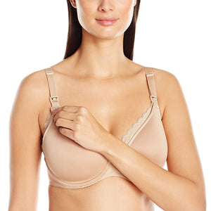 Chantelle NUDE Merci Lightweight Nursing T-Shirt Bra, US 42DD - racks-op