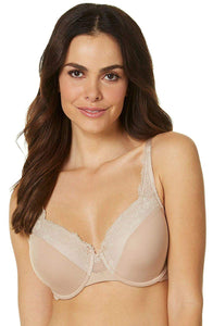 Olga TOASTED ALMOND Cloud 9 Lace Underwire Contour Bra, US 36DD, UK 36DD