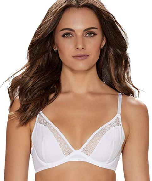 Elle Macpherson Woman's Bright White Body Edge Plunge Bra, Size 36D - racks-op
