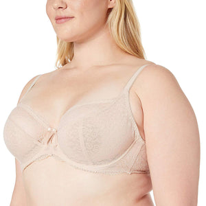 FREYA Natural Beige Fancies Underwire Plunge Bra, US 30F, UK 30E, NWOT