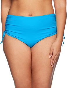 Beach House BEACH SOLIDS BLUE CRUSH Paloma Bikini Bottom, US 18W - racks-op