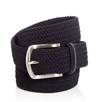 Blue The Men's's Store At Bloomingdale's Men's Woven Stretch Belt, Size 42R