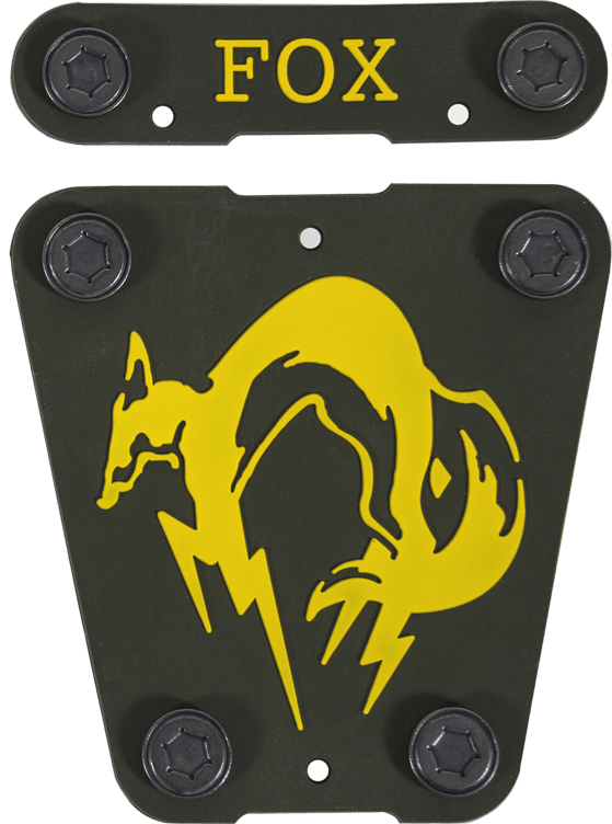 Musterbrand Metal Gear Scout Silicon Badges FOX Unit 2 badges button attachment