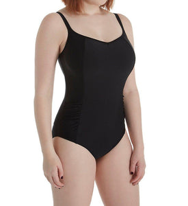 Panache BLACK Anya Bra-Sized Balconnet One-Piece Swimsuit, US 38G - racks-op