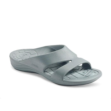 Aetrex GREY Bali Lynco Orthotic Slides, US 8, EU 38
