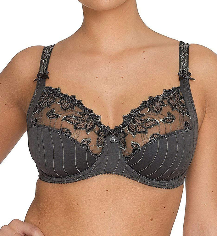 Prima Donna WINTER GREY Deauville Full Cup Bra, US 34G - racks-op