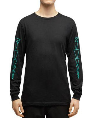 Dyne BLACK Long-Sleeve Triangle Graphic Tee, US Small S/S