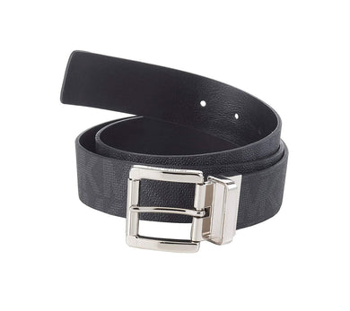 Michael Michael Kors BLACK Logo Reversible Belt, US Medium