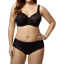 Load image into Gallery viewer, Elila BLACK Full Coverage Stretch Lace Underwire Bra, US 46I, UK 46G