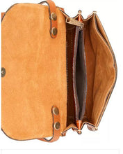 Load image into Gallery viewer, Patricia Nash Torri Tooled Leather Crossbody Color: Florance (TAN)