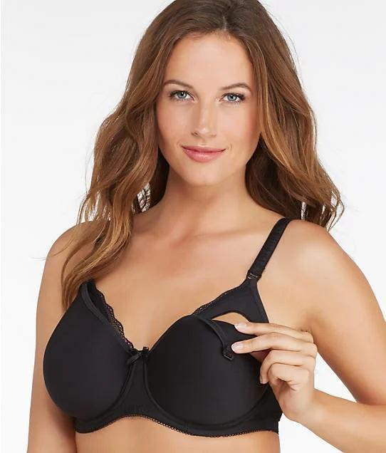 Freya BLACK Pure Underwire Spacer Moulded Nursing Bra, US 36G - racks-op