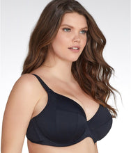 Load image into Gallery viewer, Elomi BLACK Essentials Underwire Plunge Bikini Swim Top, US 42DD, UK 42DD