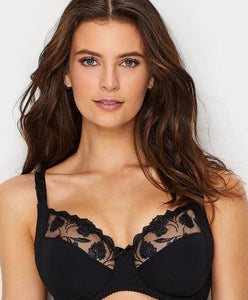PRIMA DONNA ETERNAL SIDE SUPPORT BRA, BLACK, UK 44H - racks-op