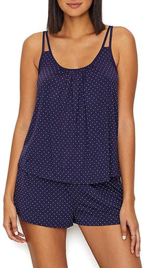 Kate Spade NAVY PRINT Polka Dot Modal Pajama Set, US Medium - racks-op