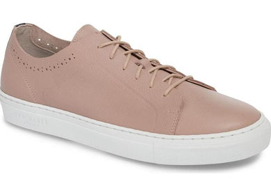 Ted Baker LIGHT PINK LEATHER Nowull Brogued Sneaker, US 10 M