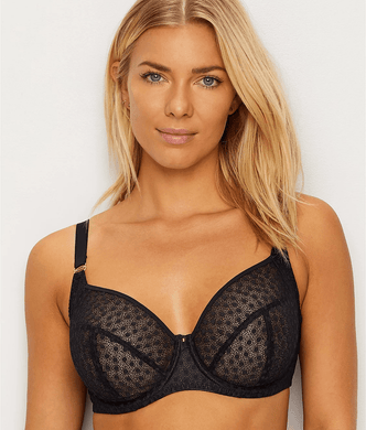 15b6c7927 Freya BLACK Starlight Underwire Hero Balcony Side Support Bra